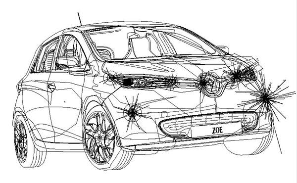 Illustration : Renault Zoé on Behance