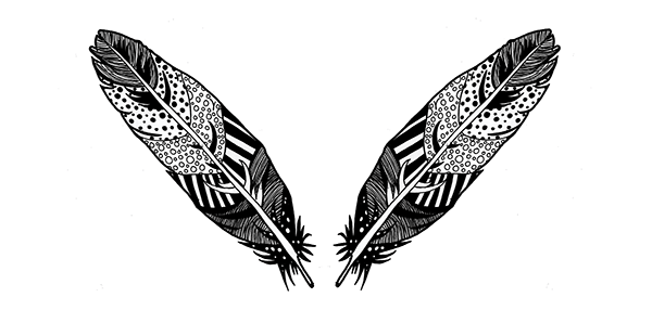 Patterned Bird Illustrations On Student Show