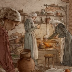 A Medieval Kitchen on Pantone Canvas Gallery