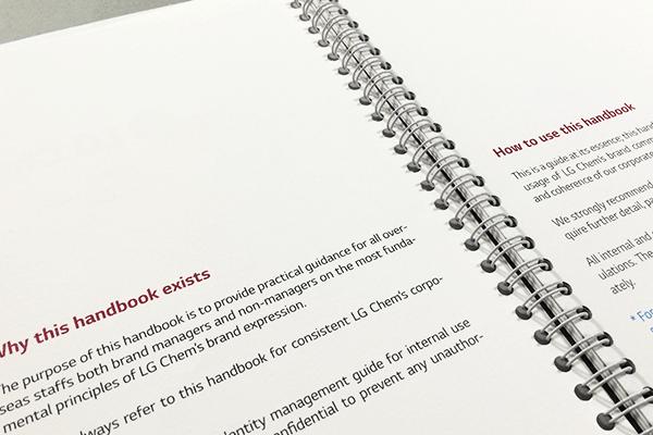 LG Chem Corporate Identity Manual Handbook on Behance