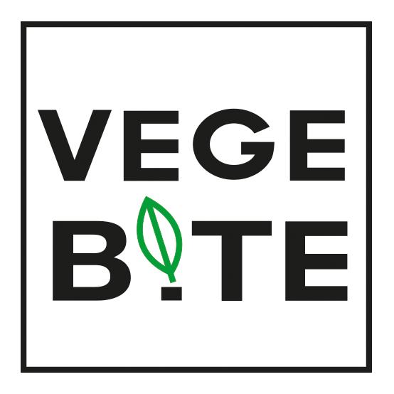 VEGE BITE logotype and visual identity on Pantone Canvas