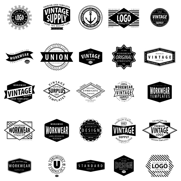 Vintage Workwear Logo Templates on Behance
