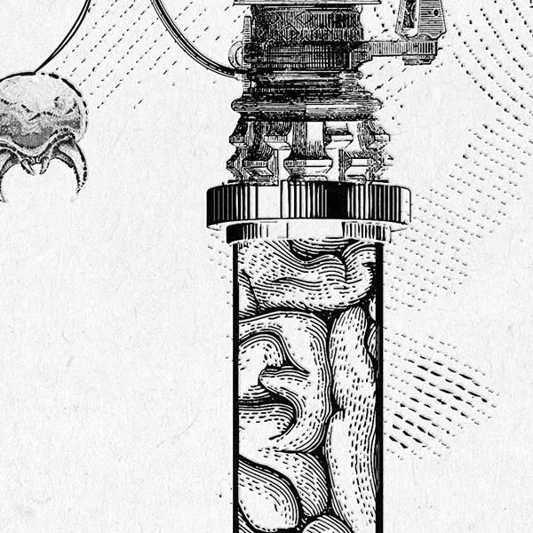 Geek Vintage Super Metroid Mother Brain Engraving on Behance