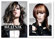 design 'hair ideas magazine' page