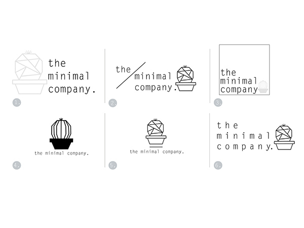 Logo Design- the minimal company. on Student Show