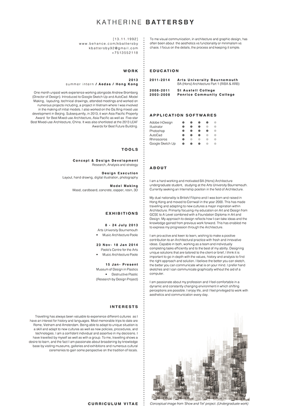 Architecture CV On Behance