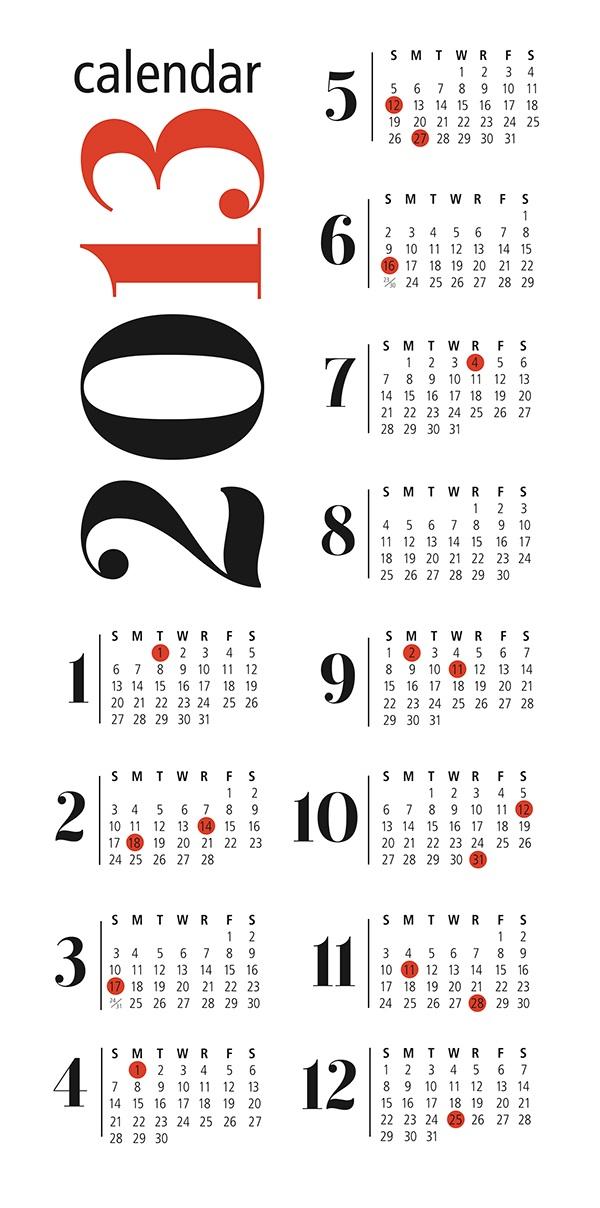 Calendar Designs on Behance