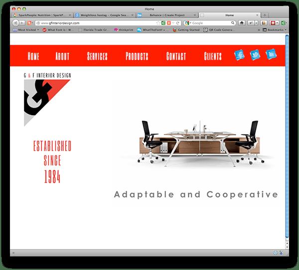 G & F Interior Design Website On Behance