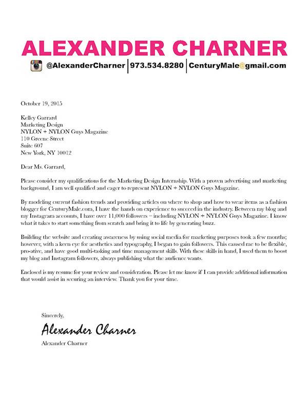 Resume/ Cover Letter - NYLON + NYLON Guys Magazine on Behance