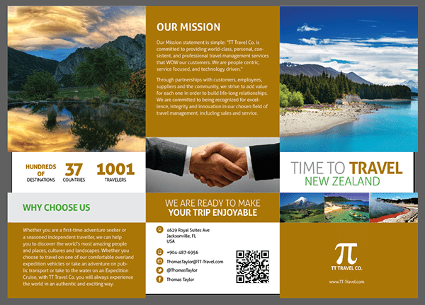 Trifold Travel Brochure New Zealand On Behance