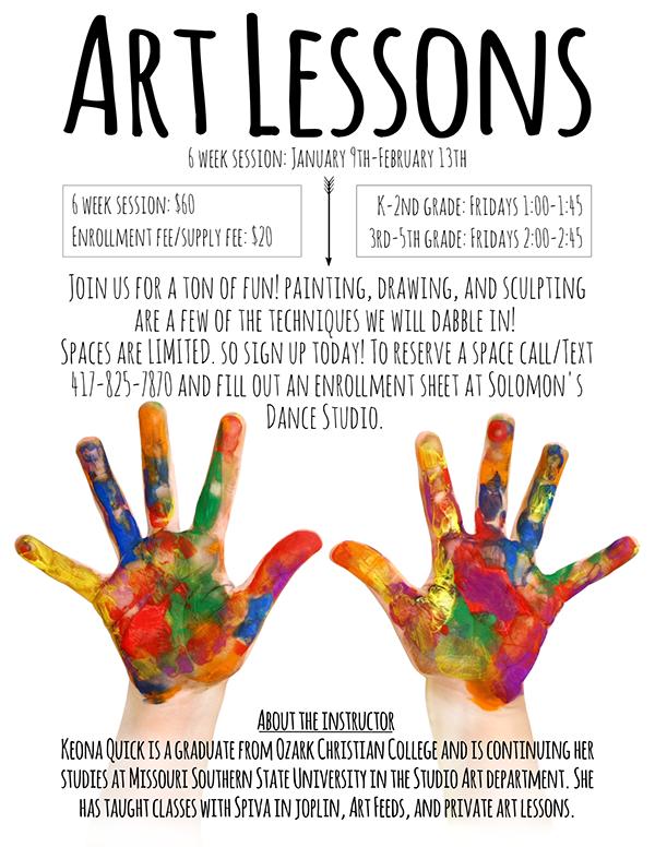 art lessons flyer on