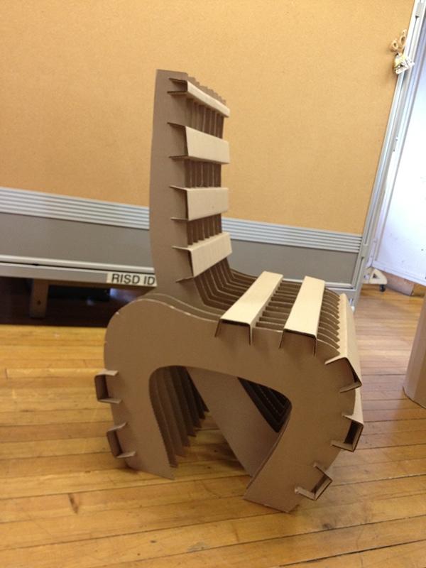 Cardboard RTA Chair  RISD PreCollege on RISD Portfolios