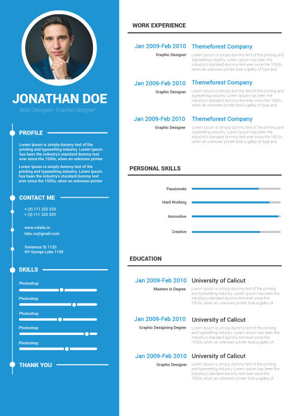 Choose from a library of resume templates and build your resume on indeed. Free Resume Template On Behance