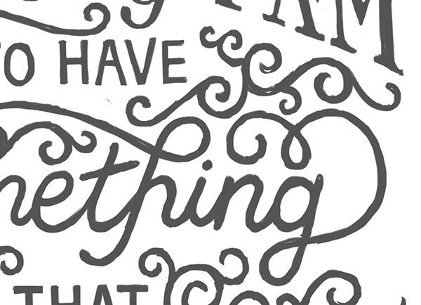 Handlettering: A. A. Milne Poster on Wacom Gallery