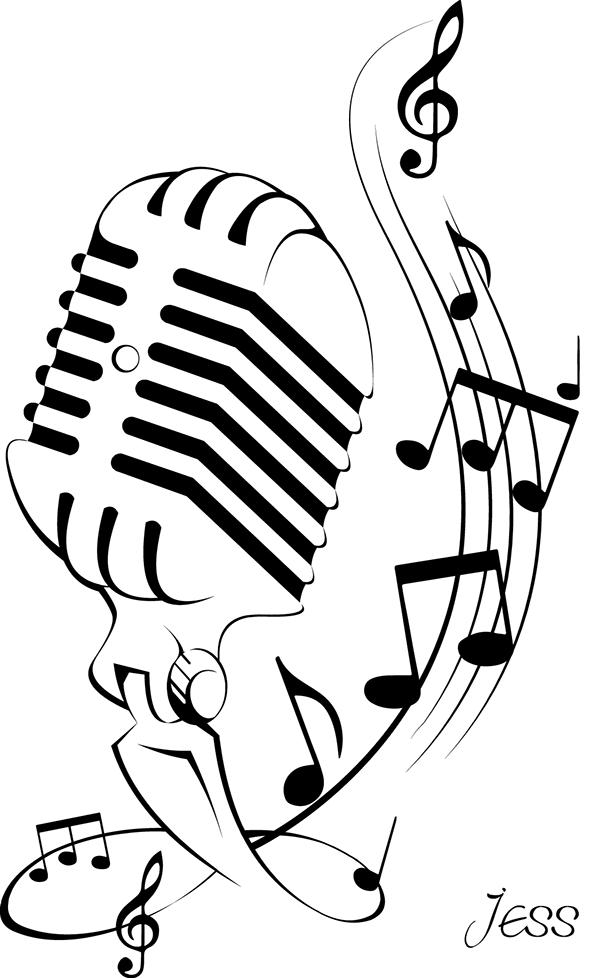 Microphone Tattoo on Behance