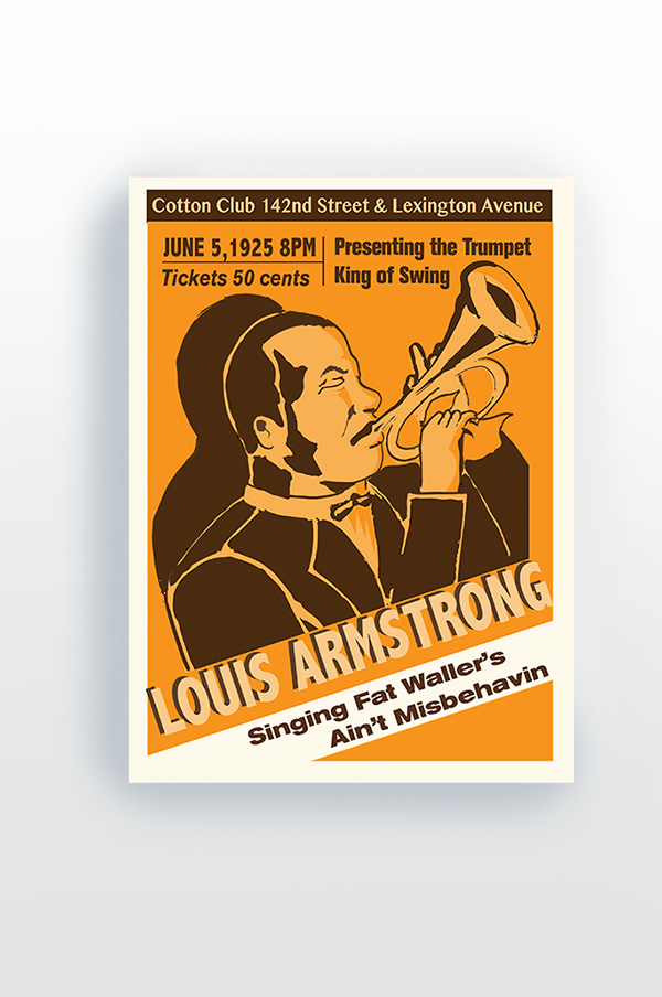 louis armstrong poster on behance