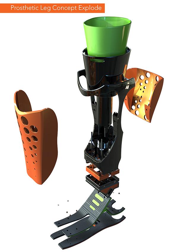 Prosthetic Leg Concept on Behance