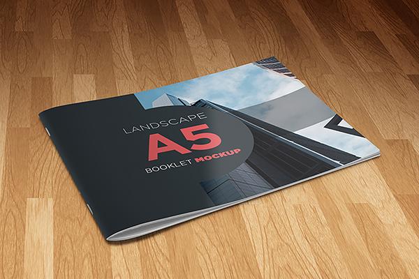 Landscape A5 Booklet Mockup on Behance