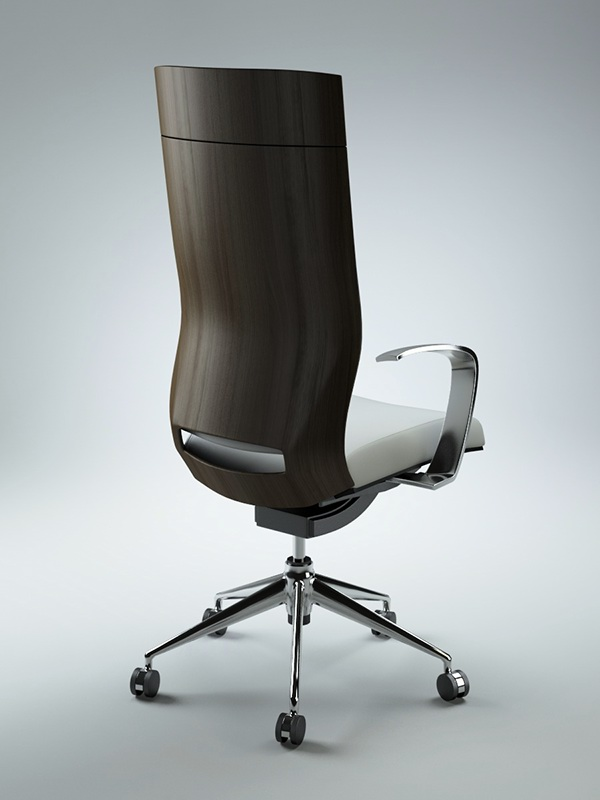 office chair 3d model wood bankers on behance