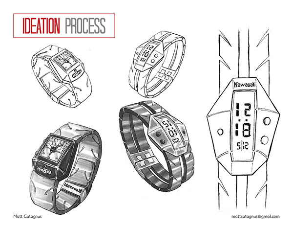 Kawasaki Watch Model on SCAD Portfolios