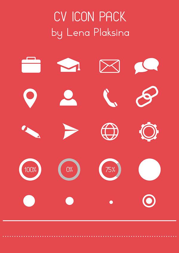 icons cv langues cv