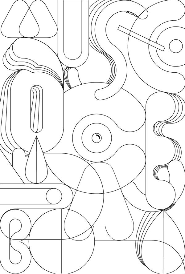 Typography illustration for dance center on Behance