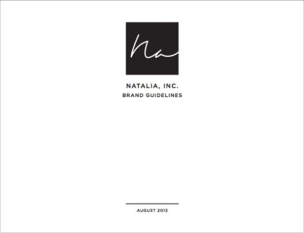 Natalia, Inc. Identity on Behance