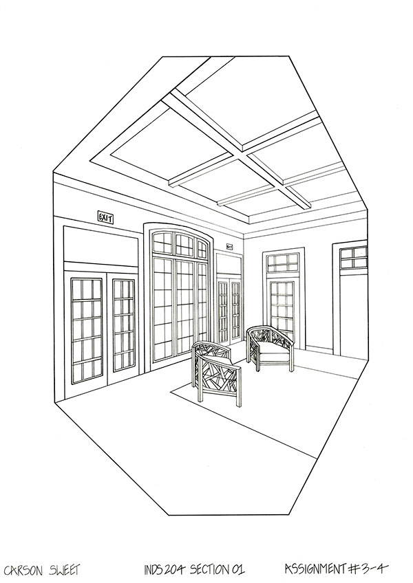 Rendering For The Interior on SCAD Portfolios