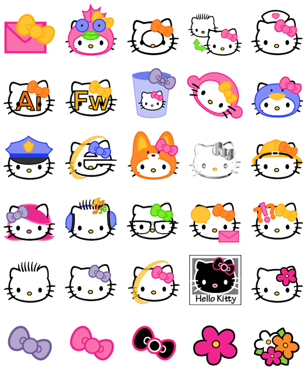 Cute Hello Kitty Wallpaper Android Hello Kitty Icons On Behance