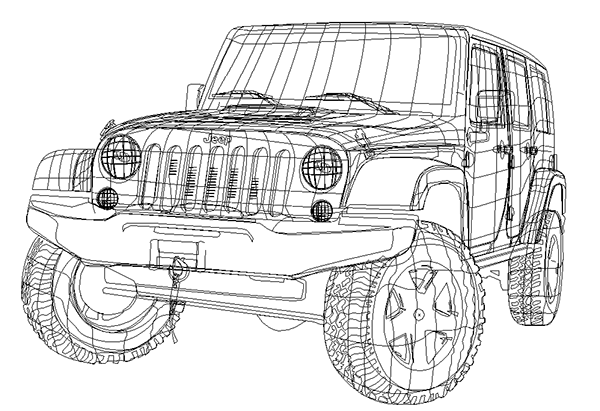2012 Jeep Wrangler Illustration on Behance