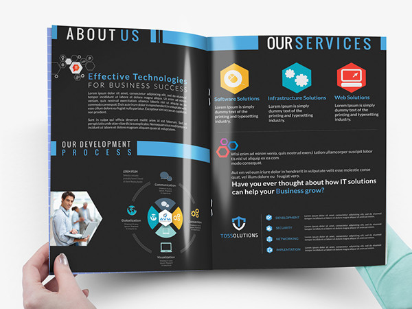Brochure Design For An IT Security Company On Behance