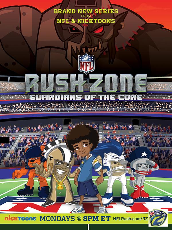 Nicktoons & NFL Draft Additional Football Stars For Rush Zone