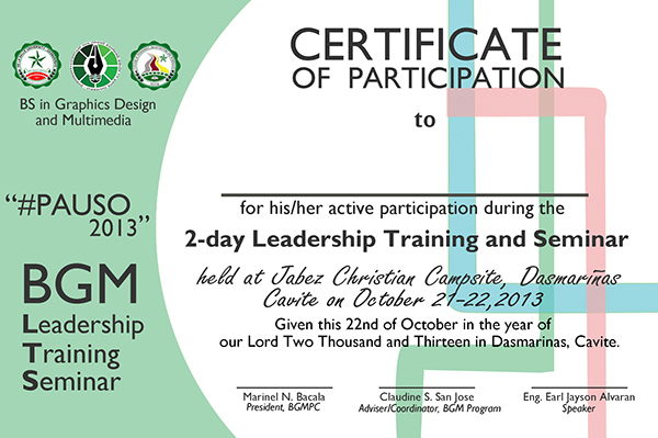 ... Participation Certificate Templates Free \ Premium Creative Template    Certificate Of Participation Template ...  Design Of Certificate Of Participation