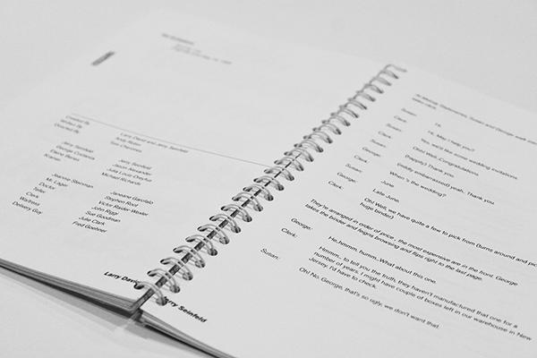 Seinfeld Script Book on RISD Portfolios