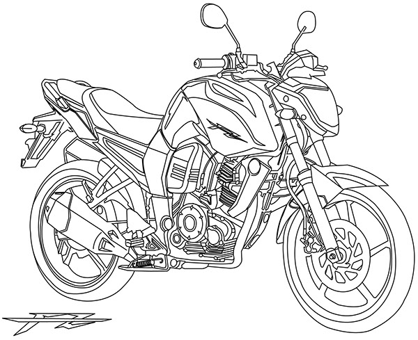 Yamaha FZ on Behance