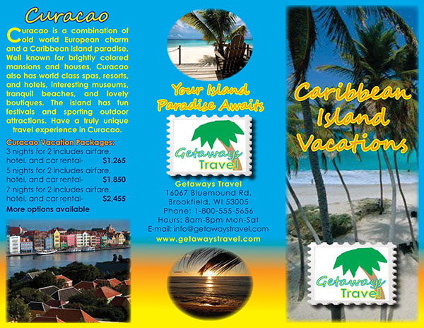 Caribbean Island Travel Brochure Project On Behance