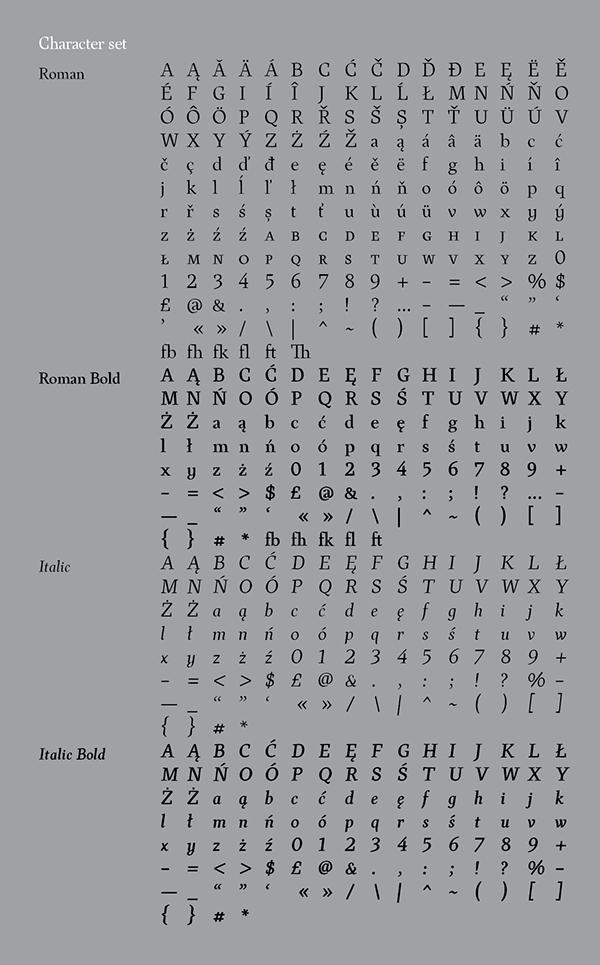 MIŁOSZ / typeface on Behance