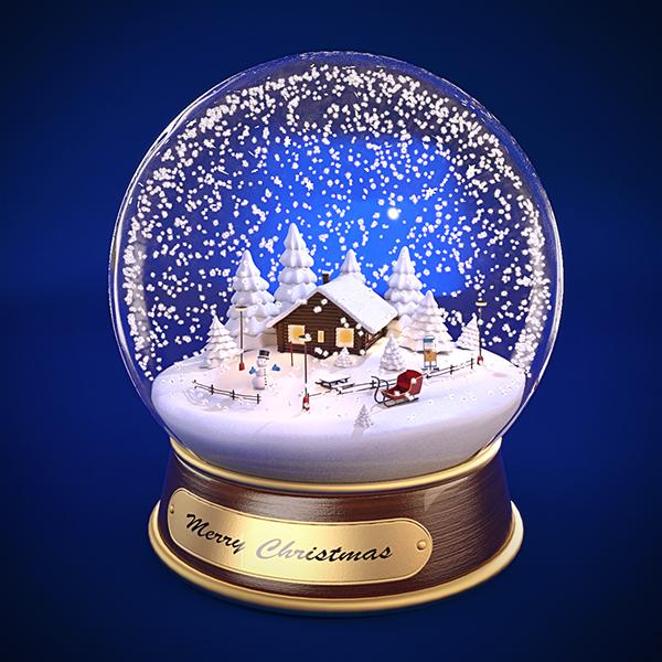3d Moving Fireplace Wallpaper Christmas Snow Globe On Behance