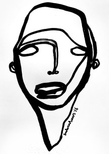 continuous line drawings solo