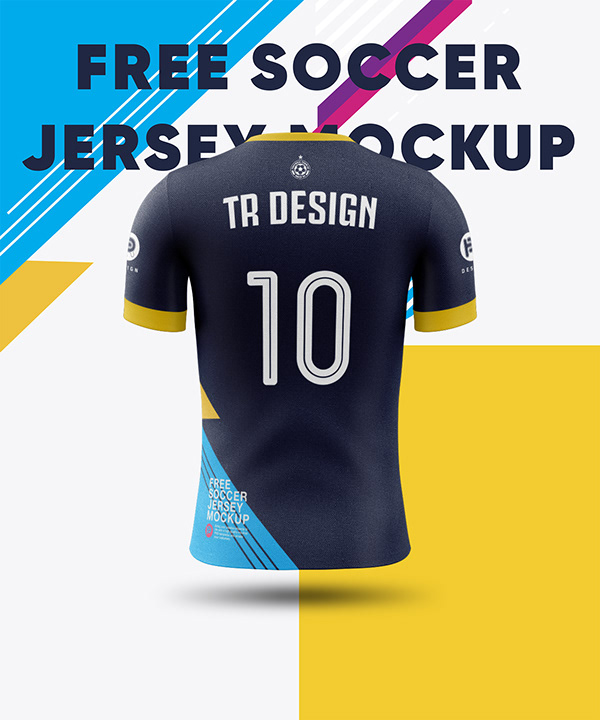 Free Soccer Jersey Mockup(Back View) on Behance