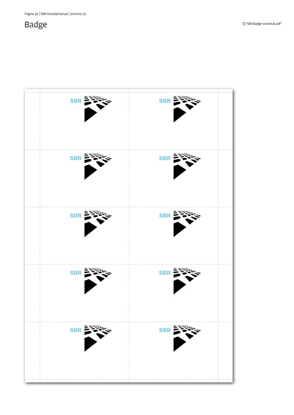 SBR corporate design / manual on Behance