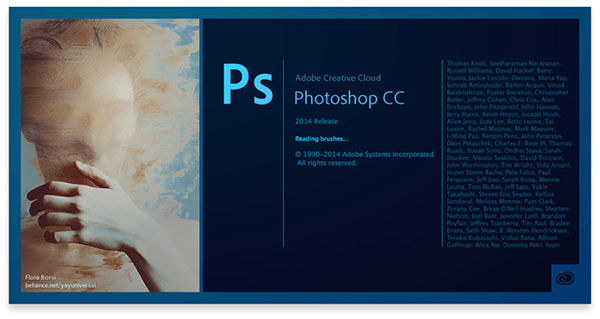 Adobe Photoshop CC Splash Screen Image on Behance