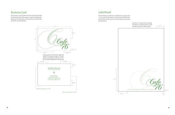 Café 76 Brand Manual on Behance