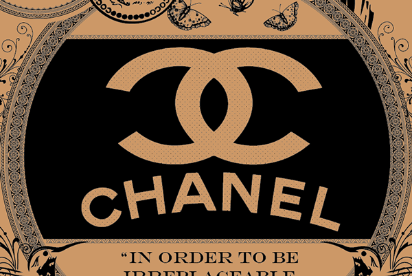 coco chanel print ad poster t shirt on