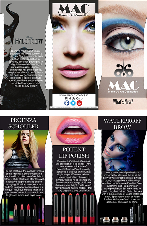 #2 Brochure Designing Mac Cosmetics On Behance