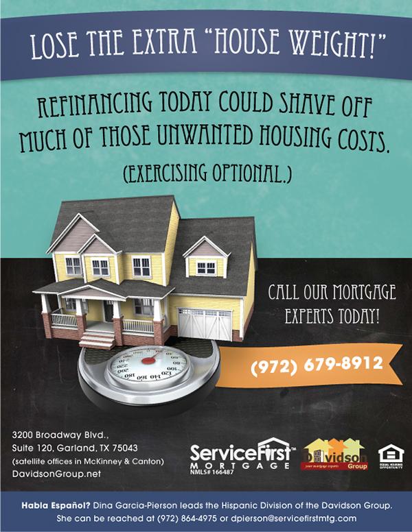 Refinance Flyer for Mortgage Company - LIVING Magazine on Behance