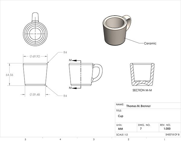 Espresso Maker Technical Drawings on RISD Portfolios