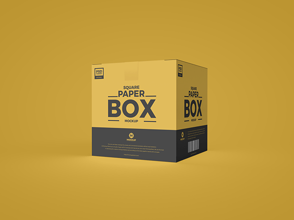 Download Free Square PSD Paper Box Mockup on Behance