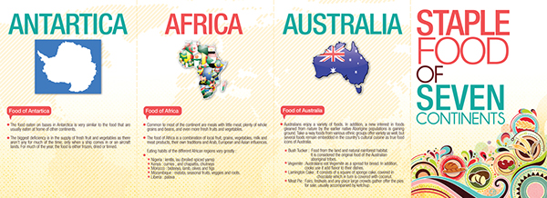 Staple Food Of 7 Continents Brochure On Student Show