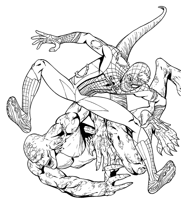 Spider-man 1 coloring book art on Behance